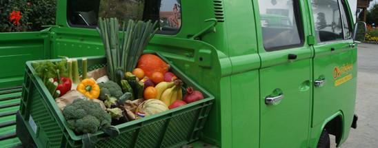 Obst packen und liefern